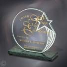 """5"""" x 5 3/8"""" x 2 1/2"""" Sculpted Star Award - FT3801GNS"""