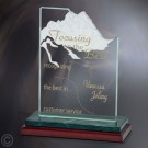 "6 1/2"" x 8"" x 3"" Heritage Apex Award - FT4606GNM"