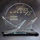 """6"""" x 5 3/8"""" x 2 3/4"""" Orion Prime Jade Glass Award - FT7160S"""