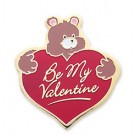 Be My Valentine Stock Holiday Lapel Pin with military clutch - HL29