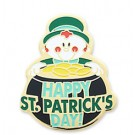 Happy St. Patrick's Day Stock Holiday Lapel Pin with military clutch - HL32