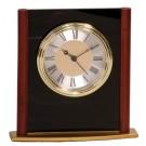 """6 1/4"""" Mahogany Finish Column Clock - MF003"""